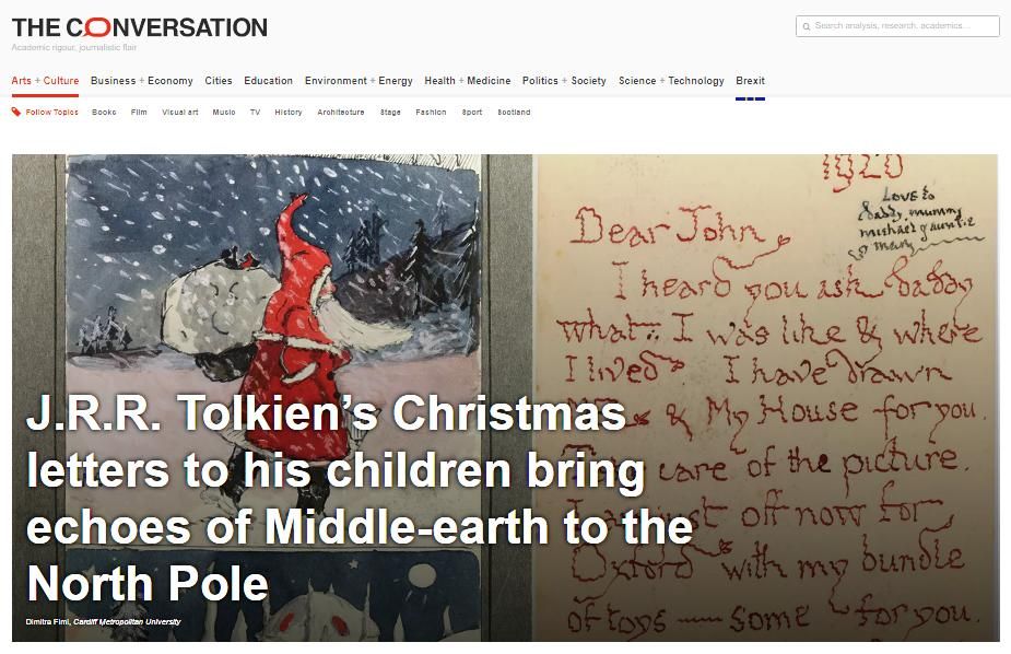 Father Christmas Letters Tolkien.New Article On J R R Tolkien S Father Christmas Letters In