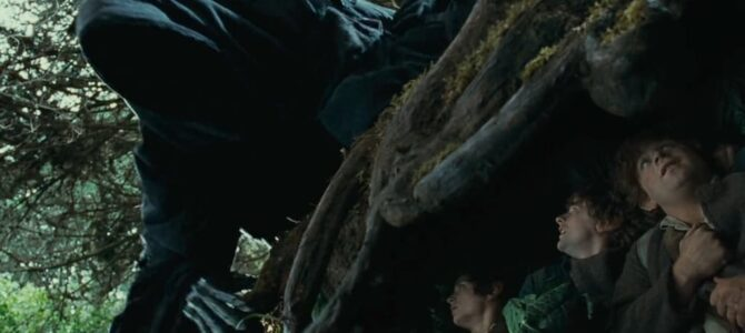 Tolkien's Hobbits, a Black Rider, and a Tree Root: chasing a visual chain